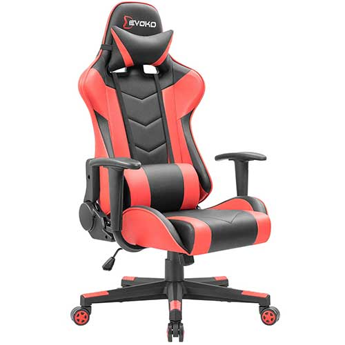 Best Gaming Chairs Under 100 2. Devoko Ergonomic Gaming Chair Racing Style Adjustable Height High-Back PC Computer Chair