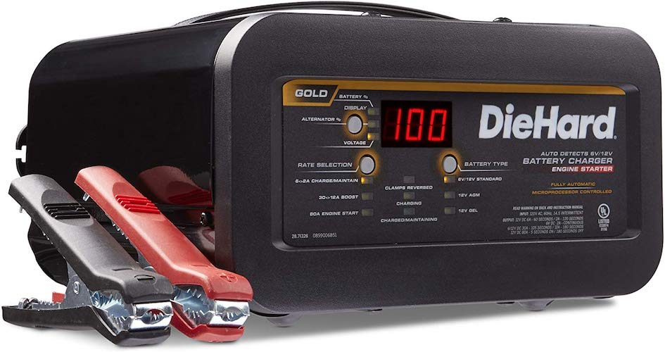 5. DieHard 71326 6/12V Gold Shelf Smart Battery Charger and 12/80A Engine Starter