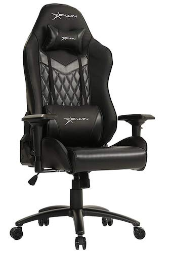 1. E-WIN Gaming Chair 4D Armrest Adjustable Tilt Back Angle and Ergonomic High-Back PU Leather Racing Executive Computer Desk Office Chair