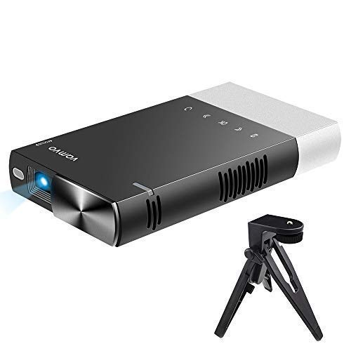 3. Mini Projector, Vamvo Ultra Mini Portable Projector 1080p Supported HD DLP LED Rechargeable Pico Projector