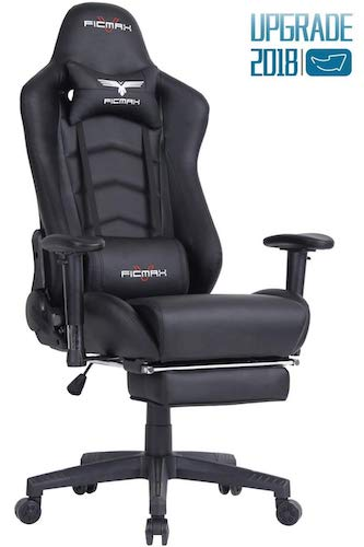 5. Ficmax Ergonomic Gaming Chair Racing Style Office Chair Recliner Computer Chair