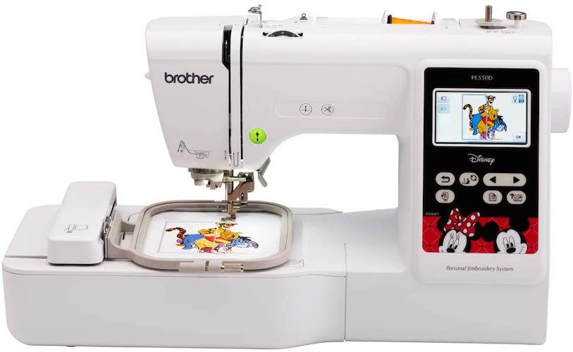 5. Brother Machine, PE550D, 125 Built including 45 Disney Designs 9 Font Styles