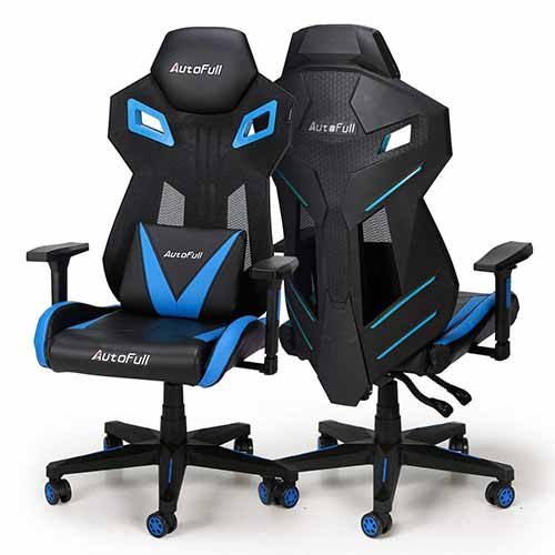 4- AutoFull Gaming Chair - Video Game Chairs Mesh Ergonomic High Back Racing Style Computer Chair for Adults with Lumbar Support ( 1 Pack)