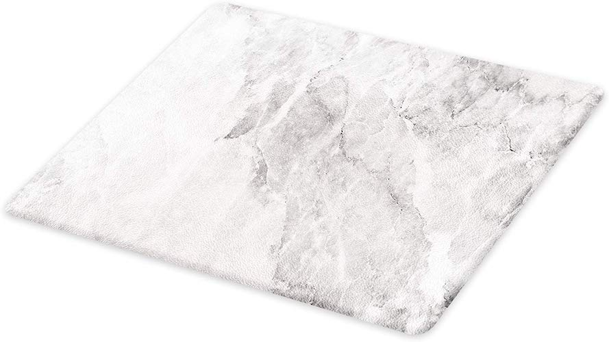 9. Lunarable Marble Cutting Board, Retro Marble Pattern with Blurry Color Contrasts Formless and Abstract Wavy Display