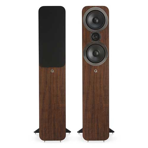 9. Q Acoustics 3050i Floorstanding Speaker Pair (English Walnut) 2018 Model