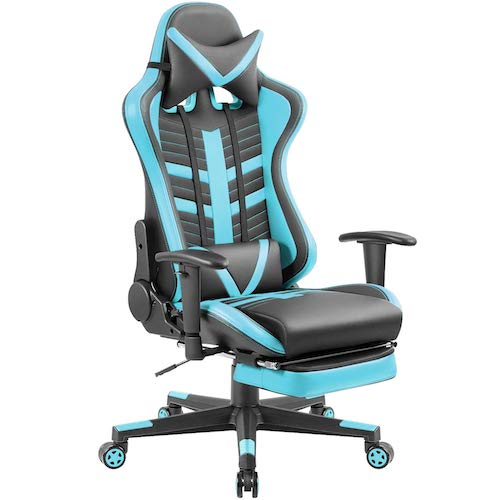 6. Homall Gaming Chair Ergonomic High-Back Racing Chair Pu Leather Bucket Seat, Computer Swivel Office Chair