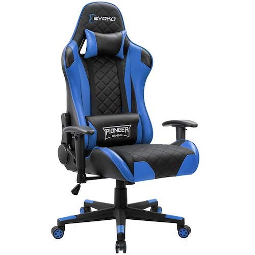 4. Devoko Racing Style Gaming Chair Height Adjustable Swivel PC Computer Chair
