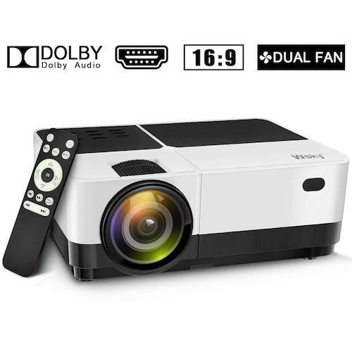 10. Wsky 2019 Newest LCD LED 2800 Lumens Portable Home Theater Video Projector