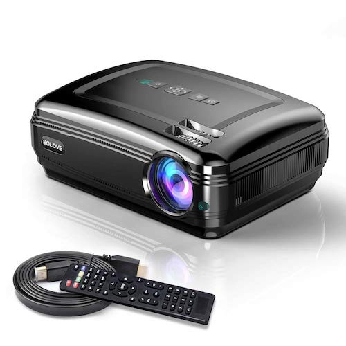9. Video Projectors, SOLOVE HDMI Projector Full HD 1080P Home Theater Projector