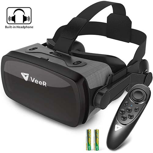 10. VeeR Falcon VR Headset with Controller, Eye Protection Virtual Reality Goggles