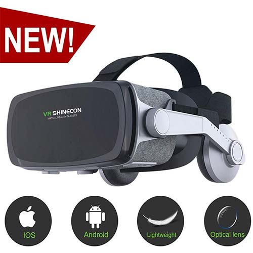 7. [New Version] VR Headset, Virtual Reality Headset, VR SHINECON VR Goggles