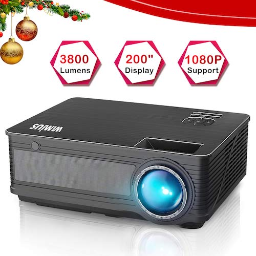 7. Projector, WiMiUS P18 3800 Lumens LED Projector Support 1080P 200