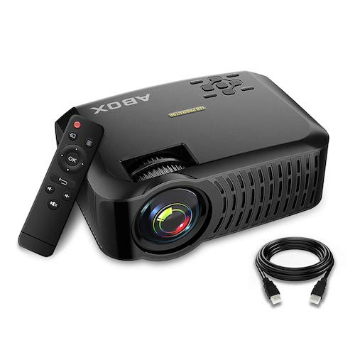 2. GooBang Doo Projector,2019 Newest ABOX A2 Native 720P Portable Home Theater LCD HD Video Projector