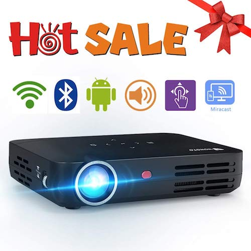 3. WOWOTO H8 3500 Lumens Mini Projector LED DLP 1280x800 Real Mini Home Theater Projector