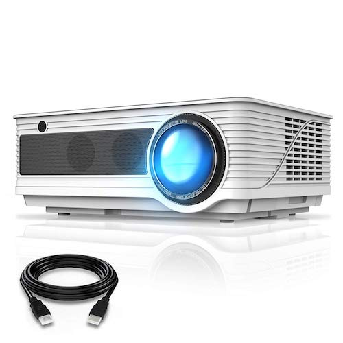 8. VIVIMAGE C580 4000 Lumens Movie Projector, Full HD 1080P Supported, Home Theater Projector