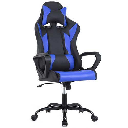 Best Gaming Chairs Under 100 7. BestMassage Gaming Office Chair, High-Back Racing Chair PU Leather Chair