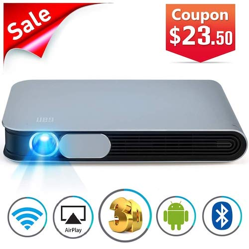 10. WOWOTO CAN Projector 3500 Lumens 3D DLP Support Full HD 1080P 300in