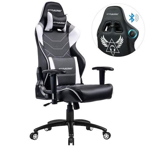 3. GTRACING Music Gaming Chair with Bluetooth Speakers【Patented】 Audio Racing Office Chair