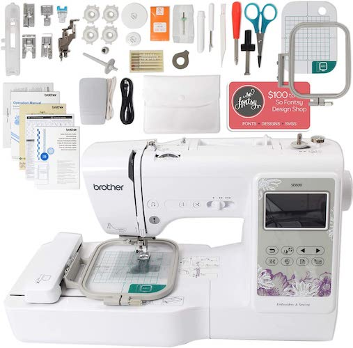 4. Brother SE600 Computerized Sewing and Embroidery Machine