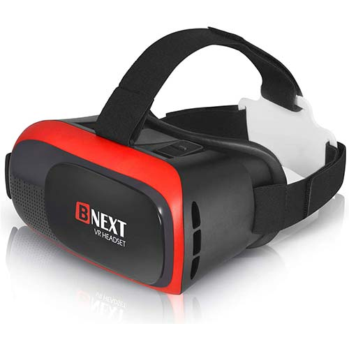 3. VR Headset for iPhone & Android Phone - Universal Virtual Reality Goggles