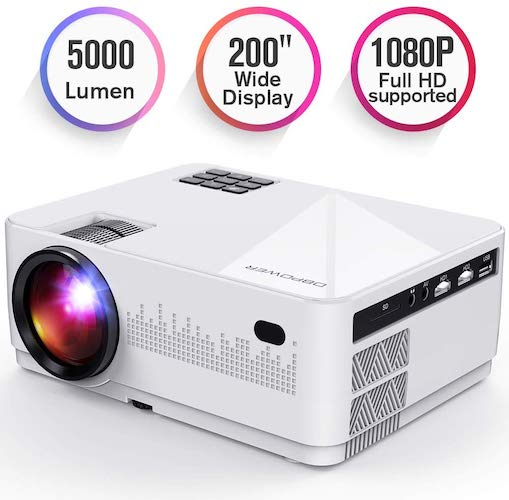 7. DBPOWER L21 LCD Video Projector