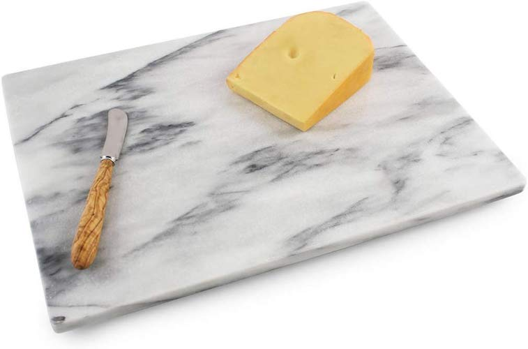 8. Thirteen Chefs Marble Pastry Board 16x12 with Rubber Feet, For Cheese, Chocolate and Dough