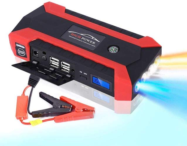 7. Portable Car Jump Starter Battery Pack 1000 Amp Peak 12V 12000mah Car Jump Starter