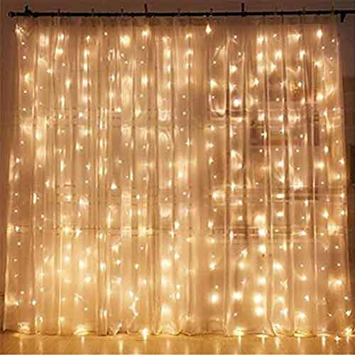 Best Indoor LED String Lights 3. Twinkle Star 300 LED Window Curtain String Light