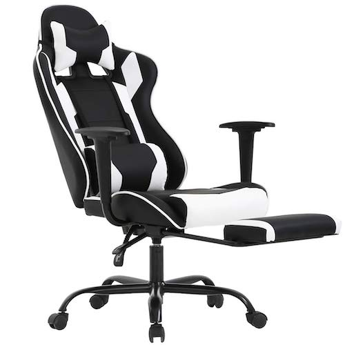 3. Ergonomic Office Chair PC Gaming Chair Desk Chair PU Leather Racing Chair Executive Computer Chair Swivel Rolling Lumbar Support