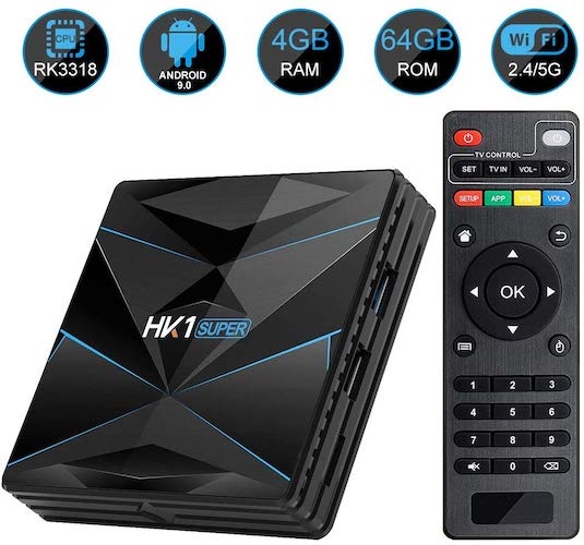 10. HK1 SUPER Android 9.0 TV Box