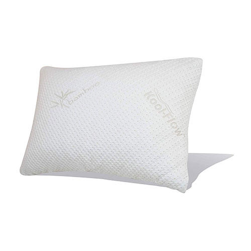 2. Snuggle-Pedic Original Ultra-Luxury Bamboo Shredded Memory Foam Combination Pillow - Queen (No Zippers)
