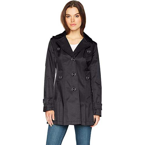 1. Via Spiga Women's Single-Breasted Belted Trench Coat
