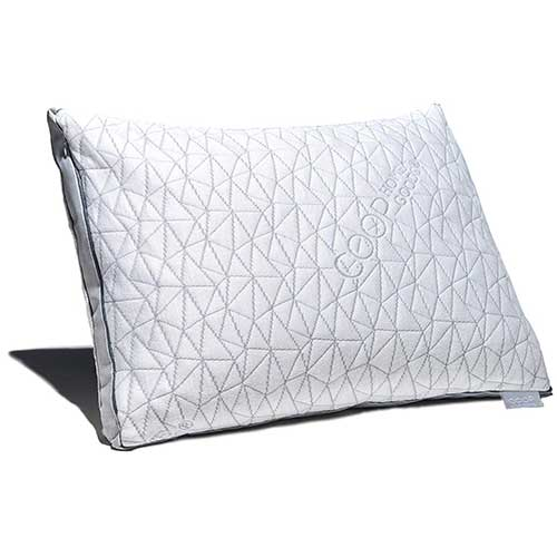 3. Coop Home Goods - Eden Shredded Memory Foam Pillow with Cooling Zippered Cover and Adjustable Hypoallergenic Gel Infused Memory Foam Fill – Queen