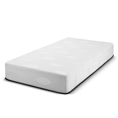 Best California King Mattress 10. Fortnight 10 inch California King Size Gel-Infused Memory Foam Mattress with White Stretch Knit Fabric - 10 Year Warranty - Made in USA