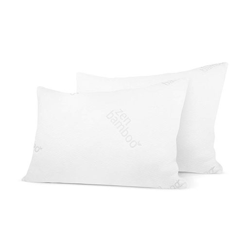 7. Zen Bamboo Ultra Plush Gel Pillow - (2 Pack Queen) Premium Gel Fiber Pillow with Cool & Breathable Bamboo Cover