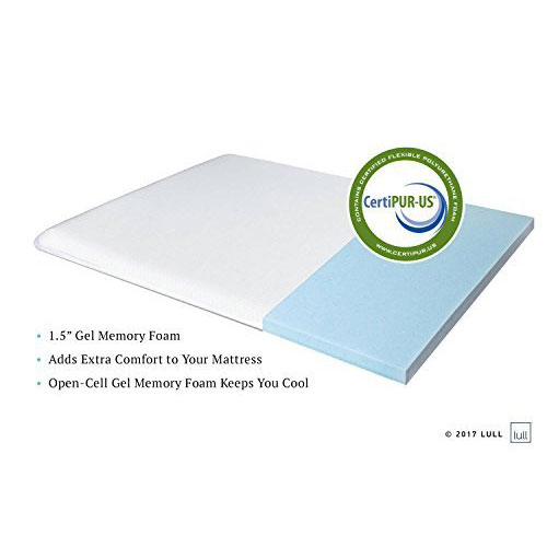 Best California King Mattress 5. Lull - Memory Foam Mattress Topper | California King Size | 1.5