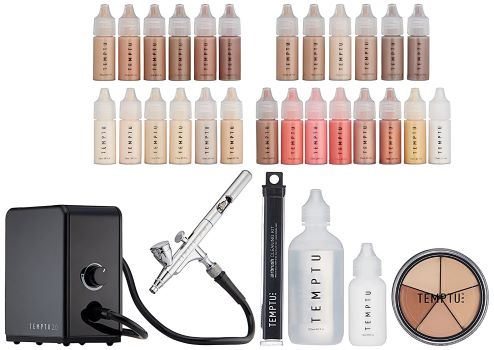 8. TEMPTU 2.0 Deluxe Complete Airbrush Kit: Airbrush Makeup Set for Pros | Includes Blushes, Highlighters, S/B Foundation, Contour & Bronzer Colors, & Concealer | Lightweight, Travel-Friendly