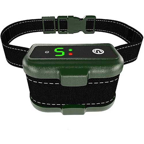 6. UPGRADED Q6 Rechargeable Bark Collar - Smart Barking Detection Module w/Triple Stop Anti-False Modes: Beep/Vibration/Shock for Small, Medium, Large Dogs & Breeds - IPx7 Waterproof (15-120 LBS)