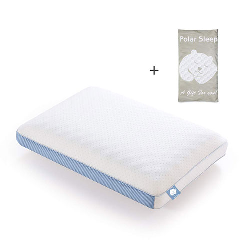 9. Polar Sleep Memory Foam Pillow for Sleeping, 2-in-1 Ventilated Pillow Ergonomic Orthopedic Cooling Gel Pillow, CertiPUR-US