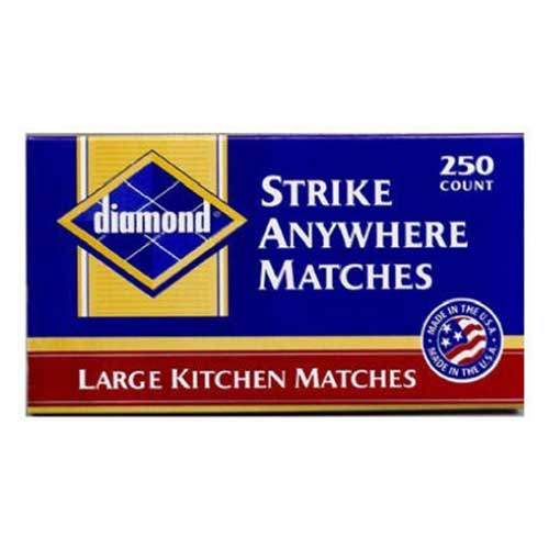 Best Strike Anywhere Matches 3. Diamond Strike Anywhere Large Kitchen Matches 1 box of 250 count
