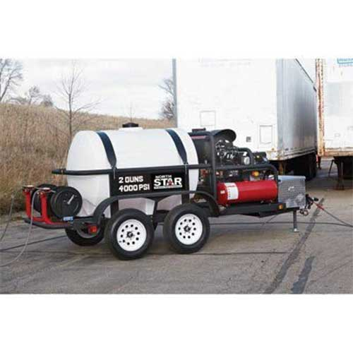 3. NorthStar Hot Water Commercial Pressure Washer Trailer