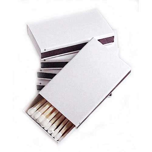 Best Strike Anywhere Matches 9. Party Favors Plus 50 Plain White Cover Wooden Matches Box Matches