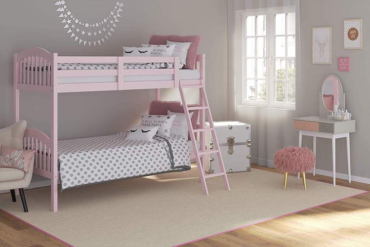 9. Storkcraft Long Horn Solid Hardwood Twin Bunk Bed