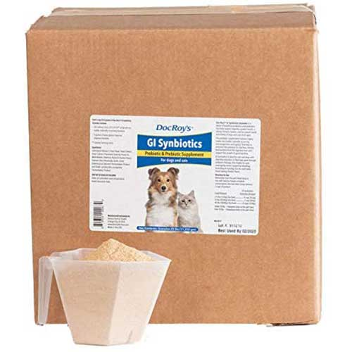 7. Doc Roy's GI Synbiotics- Probiotic & Prebiotic Supplement - for Dogs and Cats