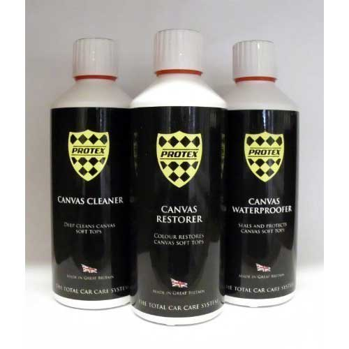 5. BMW Z4 Convertible Soft Top Care Kit - Canvas Cleaner/Restorer (Black)/Waterproofer 500ml by Protex World