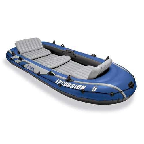 Best Inflatable Rafts 1. Intex Excursion 5 Person Inflatable Boat Set