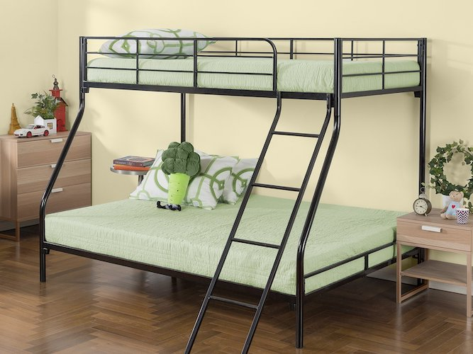 1. Zinus Hani Easy Assembly Quick Lock Metal Bunk Bed