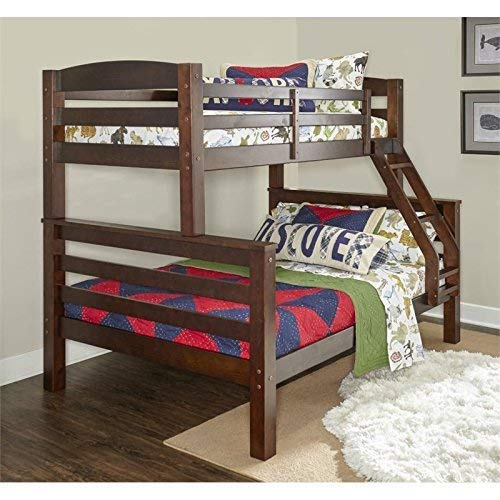 7. Powell Bunk Bed, Twin/Full, Espresso