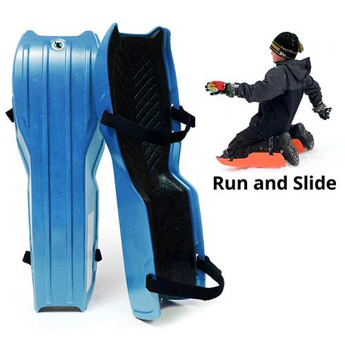 6. Sled Legs Wearable Snow Sleds – Fun Winter Accessories with Leg Support – Family Friendly Winter Activities