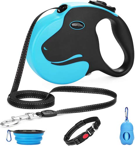 8. BABYLTRL Upgraded Retractable Dog Leash